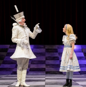 Andrew MacDonald-Smith and Ellie Heath in Alice Through The Looking-Glass at the Citadel. Photo by Ian Jackson, Epic Photography.
