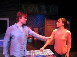 Jesse Gervais and Belinda Cornish in The Realistic Joneses. Photo supplied.
