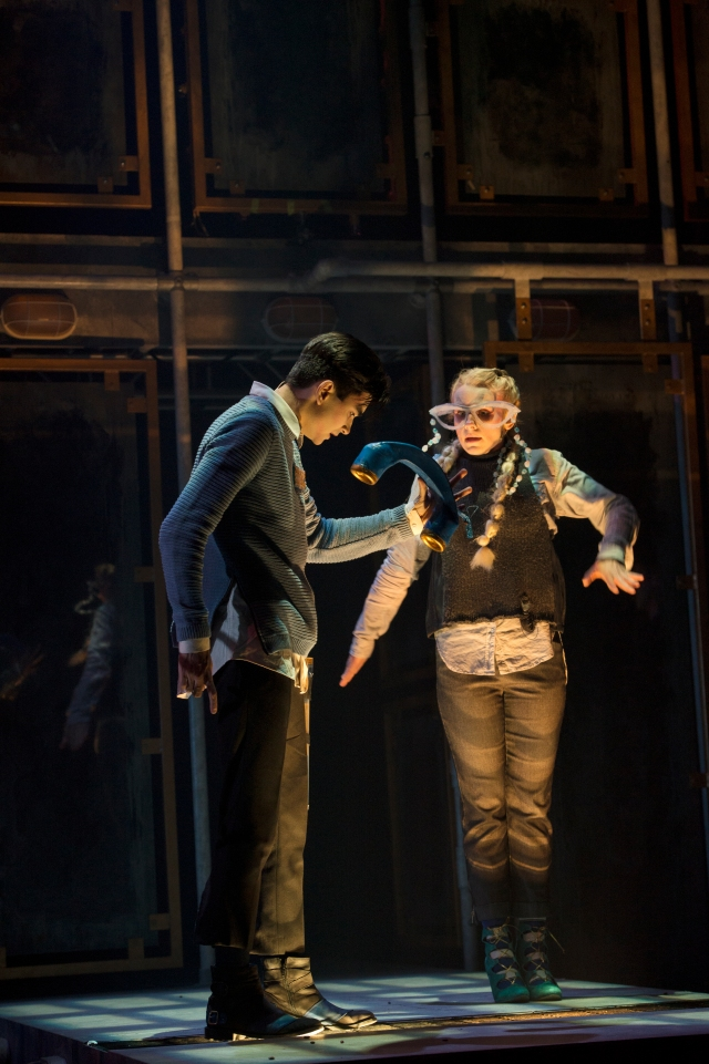 Fortune Falls, Catalyst Theatre's new musical, with Daniel Fong and Shannon Blanchet. Photo by David Cooper