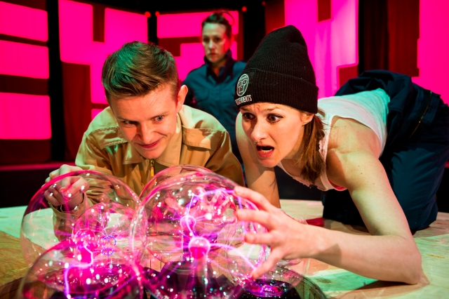 Luc Tellier and Kristi Hansen in Star Killing Machine, a Broken Toys Theatre production. Photo by Ryan Parker