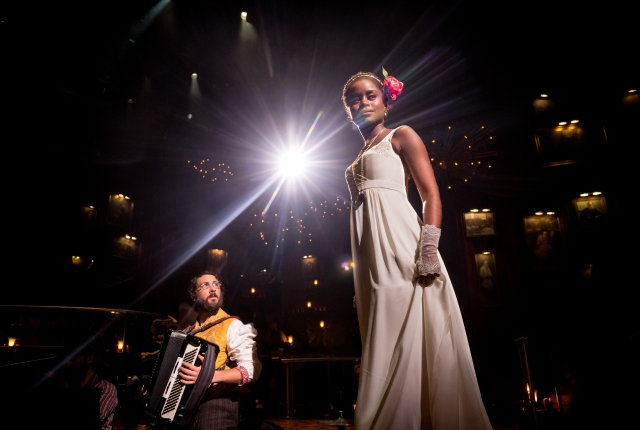 Josh Groban and Denée Benton in Natasha, Pierre, and the Great Comet of 1812. Photo by Chad Batka
