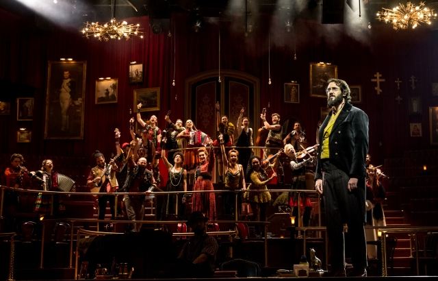 Josh Groban and the cast of Natasha, Pierre and the Great Comet of 1812. Photo by Chad Batka