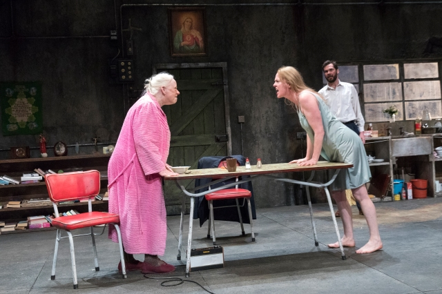 Aisling O'Sullivan, Marie Mullen, Marty Rea in Martin McDonagh's The Beauty Queen of Leenane. Photo by Richard Termine